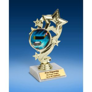 Hockey Star Ribbon Trophy 6""