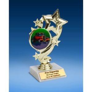 "Hot Rod Star Ribbon Trophy 6"""