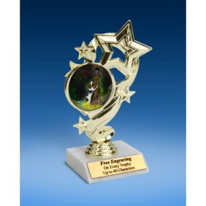 "Hunting Star Ribbon Trophy 6"""