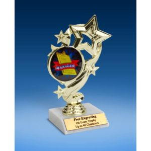 Manager Star Ribbon Trophy 6""