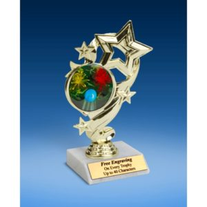 """Paintball Star Ribbon Trophy 6"""""""