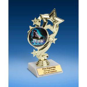 "Rollerblading Star Ribbon Trophy 6"""