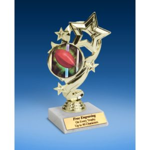 Rugby 1 Star Ribbon Trophy 6""
