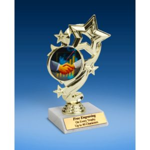 "Sales Star Ribbon Trophy 6"""