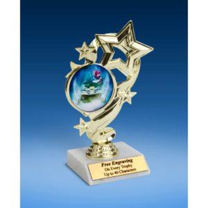 """Snowmobile Star Ribbon Trophy 6"""""""