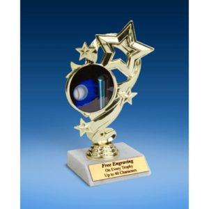 Softball Star Ribbon Trophy 6""