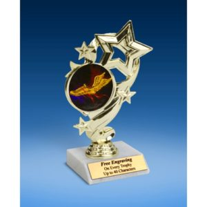 Track Star Ribbon Trophy 6""