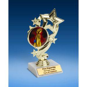 "Wrestling Star Ribbon Trophy 6"""
