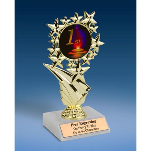 "1st Place Sports Starz Trophy 6"""
