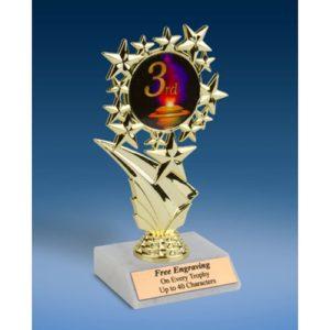 "3rd Place Sports Starz Trophy 6"""