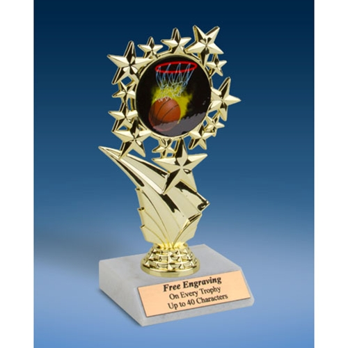 Basketball 1 Sports Starz Trophy 6""