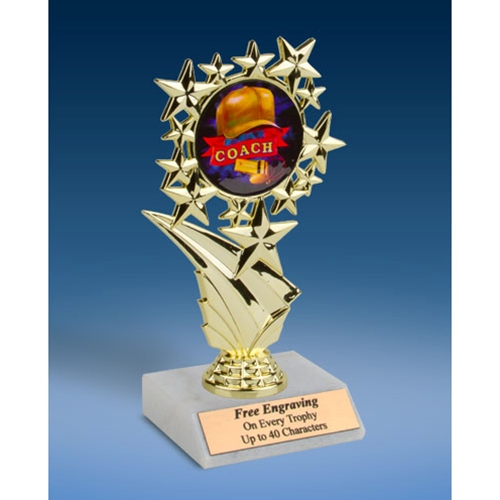 Coach Sports Starz Trophy 6""