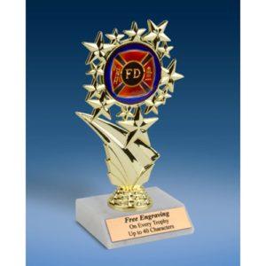 "Fire Department Sports Starz Trophy 6"""