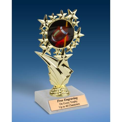 "Football 1 Sports Starz Trophy 6"""