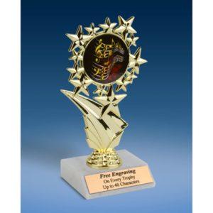"""Music 1 Sports Starz Trophy 6"""""""