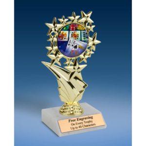 "Poker Sports Starz Trophy 6"""