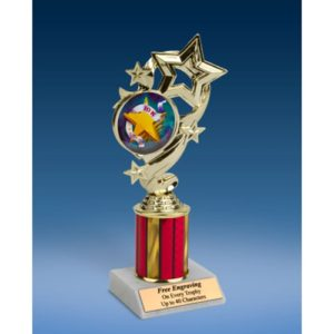 10K Star Ribbon Trophy 8""