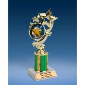 """5K Star Ribbon Trophy 8"""""""
