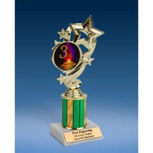 "3rd Place Star Ribbon Trophy 8"""