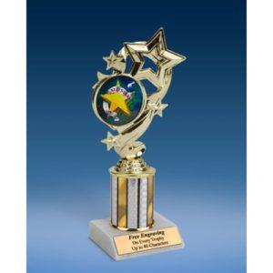 """All Star Star Ribbon Trophy 8"""""""