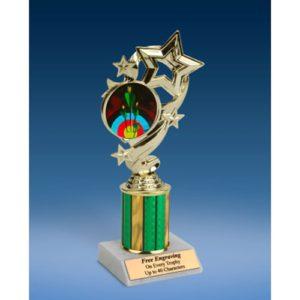 "Archery Star Ribbon Trophy 8"""