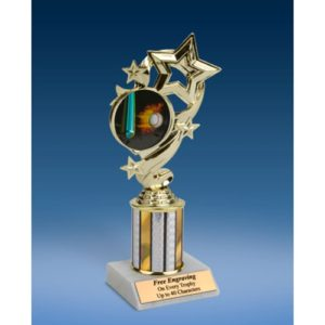 Baseball 1 Star Ribbon Trophy 8""