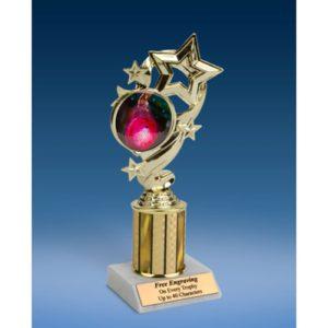 "Bowling 2 Star Ribbon Trophy 8"""