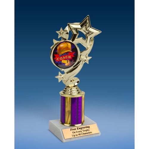 "Coach Star Ribbon Trophy 8"""