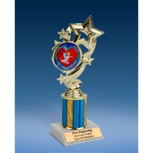 """Cupid Star Ribbon Trophy 8"""""""