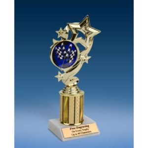 Derby Star Ribbon Trophy 8""