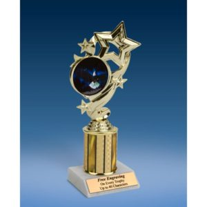 Eagle Star Ribbon Trophy 8""
