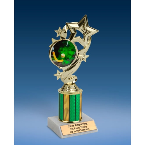 Field Hockey Star Ribbon Trophy 8""