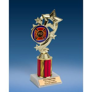 Fire Department Star Ribbon Trophy 8""