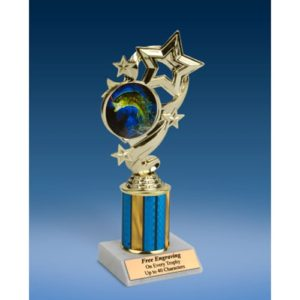Fishing Star Ribbon Trophy 8""