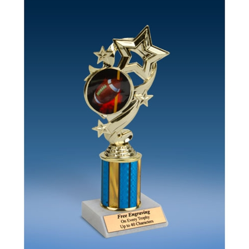 Football 1 Star Ribbon Trophy 8""