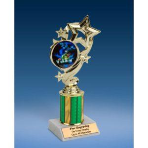 "Go Kart Star Ribbon Trophy 8"""