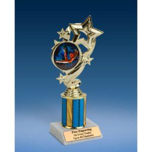 """Gymnastics (F) Star Ribbon Trophy 8"""""""