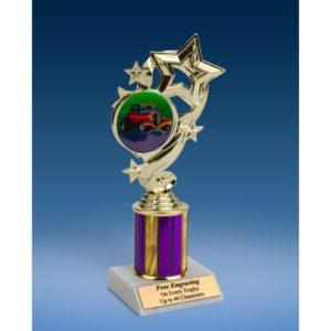 "Hot Rod Star Ribbon Trophy 8"""