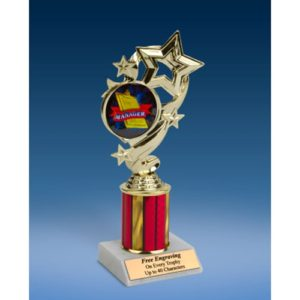 Manager Star Ribbon Trophy 8""
