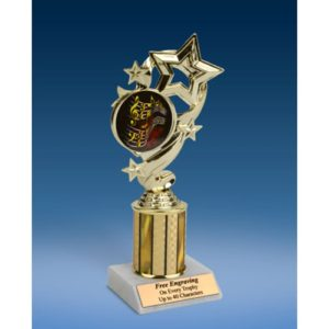"Music 1 Star Ribbon Trophy 8"""