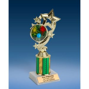 """Paintball Star Ribbon Trophy 8"""""""
