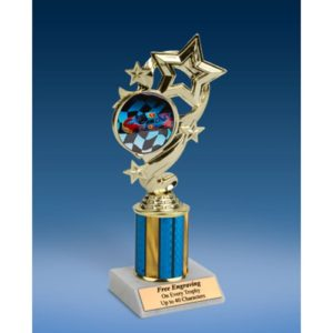 Racing Star Ribbon Trophy 8""