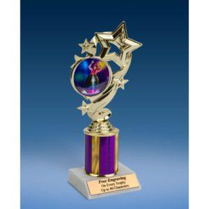 "Rodeo Clown Star Ribbon Trophy 8"""