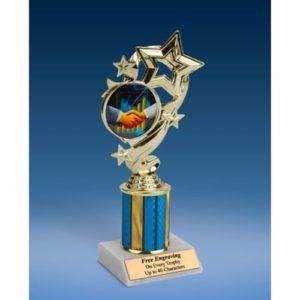 "Sales Star Ribbon Trophy 8"""