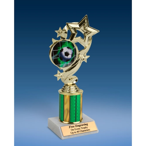 Soccer 1 Star Ribbon Trophy 8""