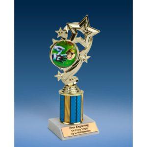 "Soccer 3 Star Ribbon Trophy 8"""