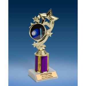 Softball Star Ribbon Trophy 8""