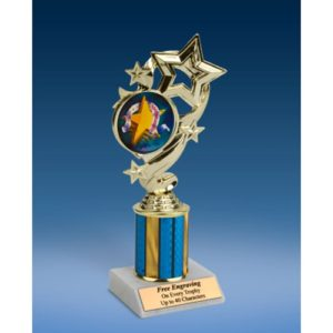 "Sportsmanship Star Ribbon Trophy 8"""