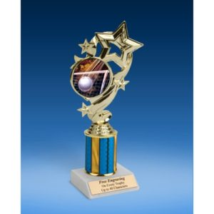 Volleyball Star Ribbon Trophy 8""
