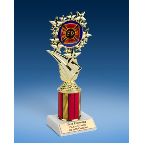 "Fire Department Sport Starz Trophy 8"""